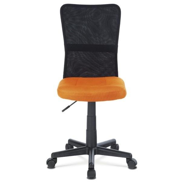 Kancelářská židle BAMBI oranžová/černá 2