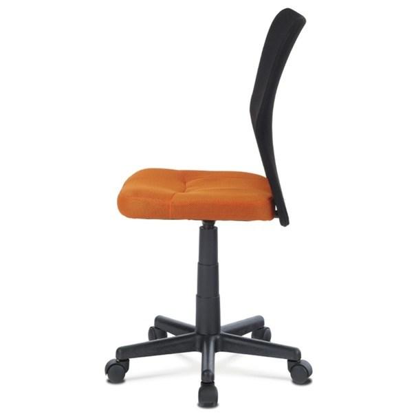 Kancelářská židle BAMBI oranžová/černá 3