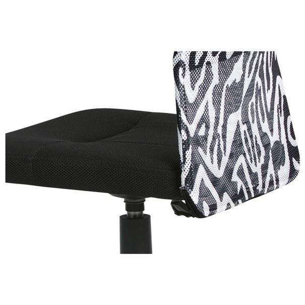 Kancelářská židle BAMBI černá s motivem 9