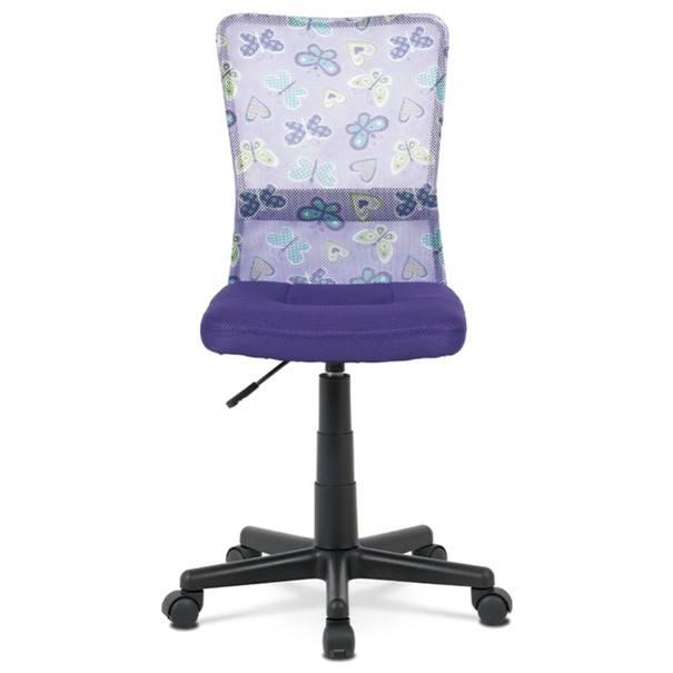 Kancelářská židle BAMBI fialová s motivem 2