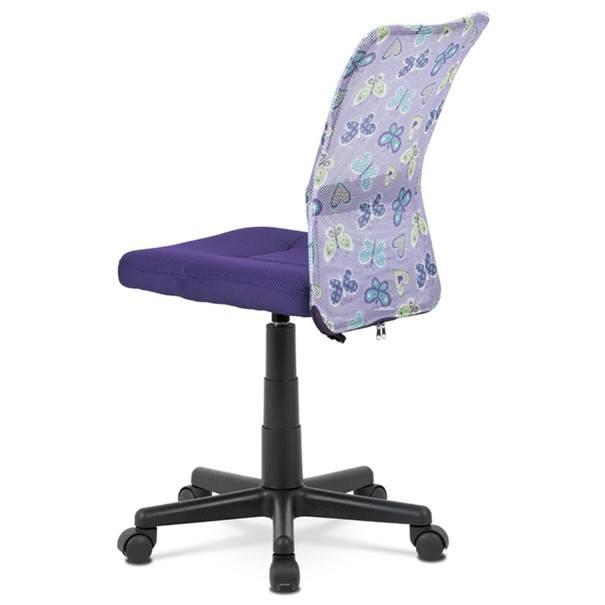 Kancelářská židle BAMBI fialová s motivem 4