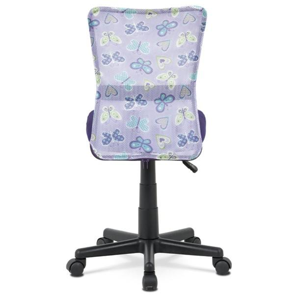 Kancelářská židle BAMBI fialová s motivem 5