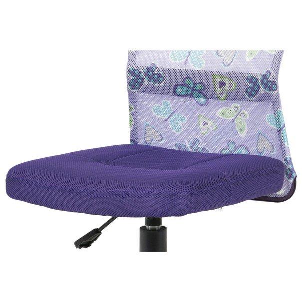 Kancelářská židle BAMBI fialová s motivem 8