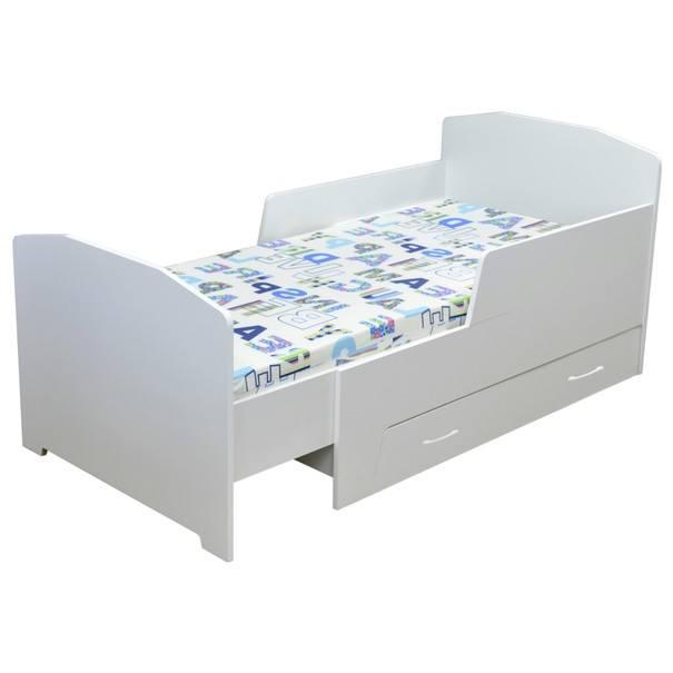 Detská rastúca posteľ  BAMBI biela, 80x200 cm 1