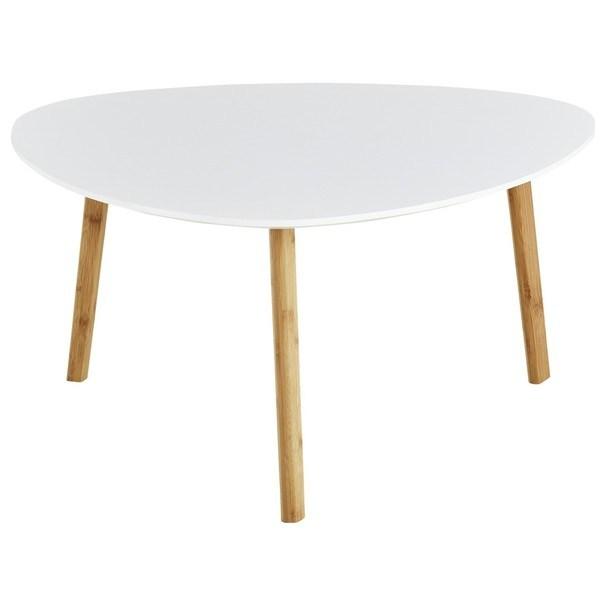 Odkladací stolík BAMBOO biela 1