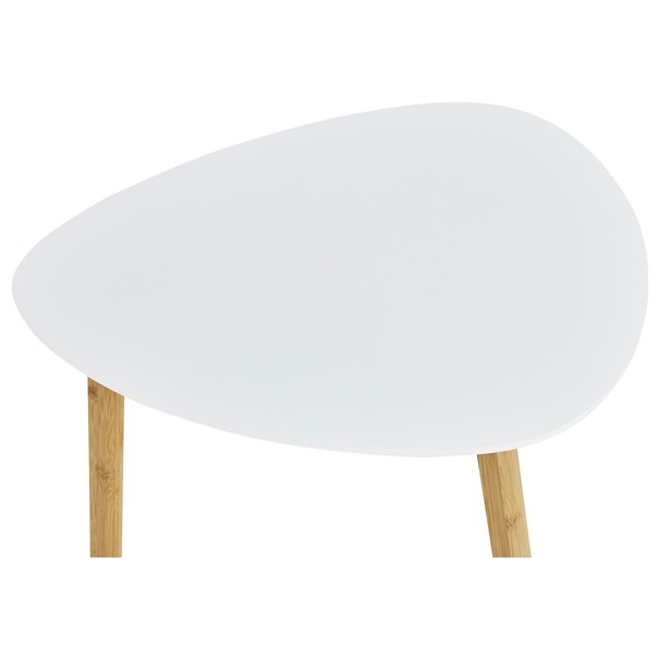 Odkladací stolík BAMBOO biela 3