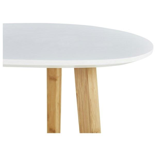 Odkladací stolík BAMBOO biela 4
