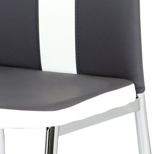 Jedálenská stolička BARBORA sivobiela/chróm 5