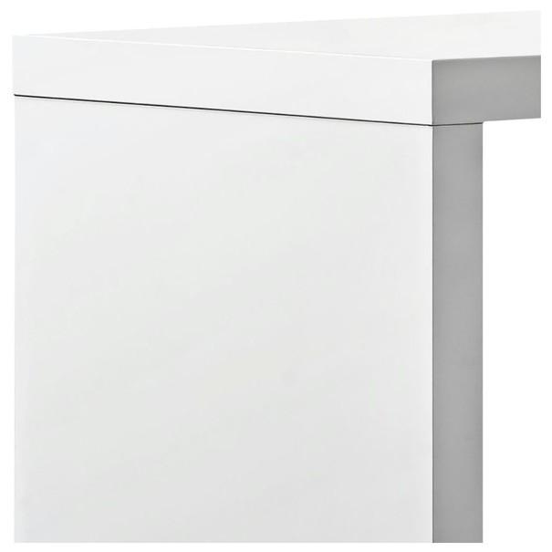 Barový stůl s regálem BART bílá 4