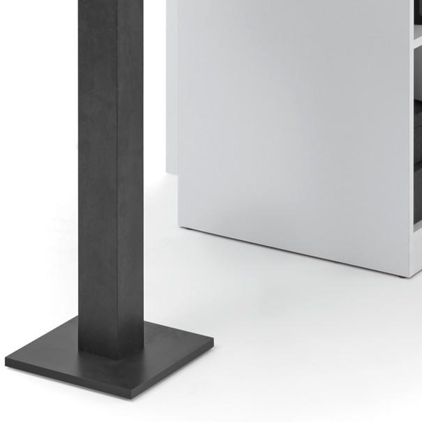 Barový stůl  BAY bílá/tmavý beton 2