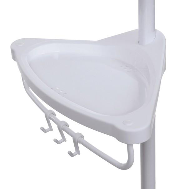 Rohová koupelnová police BCB001A bílá 9
