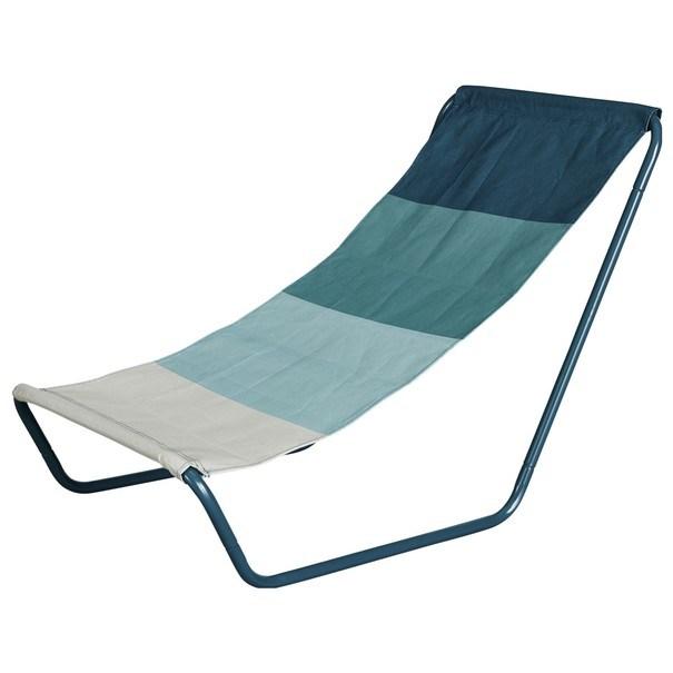 Plážová židle BEACH  modrá/tyrkysová/bílá 1