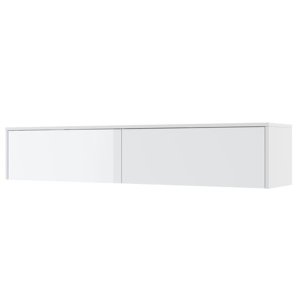 Policový nástavec k posteli BED CONCEPT 160H bílá/vysoký lesk, 160x200 cm 1