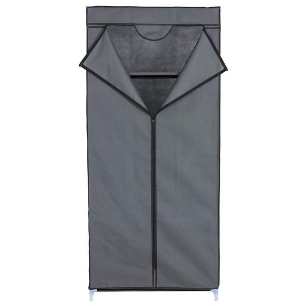 Textilní skříň BELINUS šedá 1