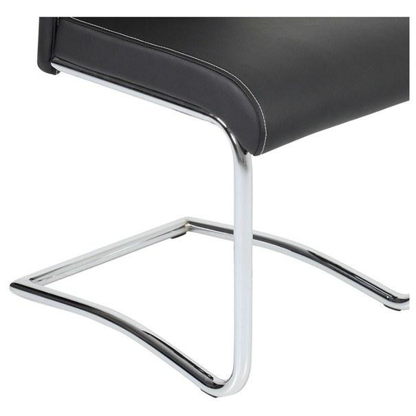 Jedálenská stolička BELLA 2 čierna/chróm 3