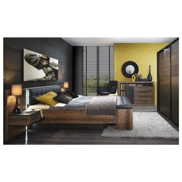 Postel s nočními stolky BELLEVUE 160x200 cm 2