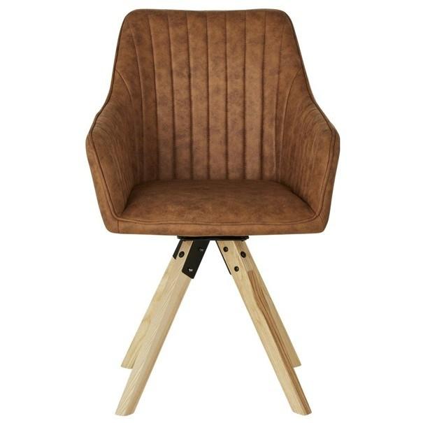 Jídelní židle BENITO cognac 3