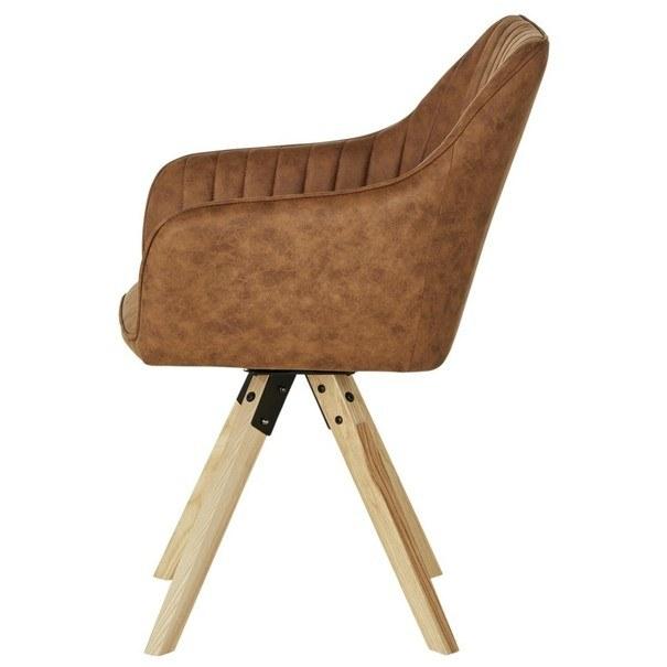 Jídelní židle BENITO cognac 4