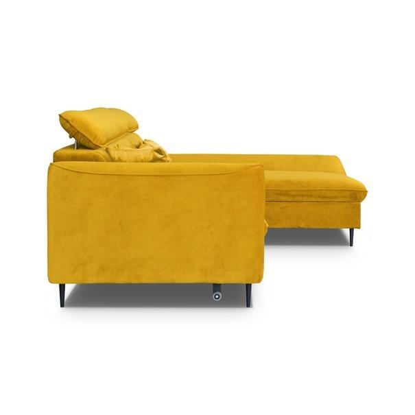 Sedací souprava BENO pravá, žlutá 4