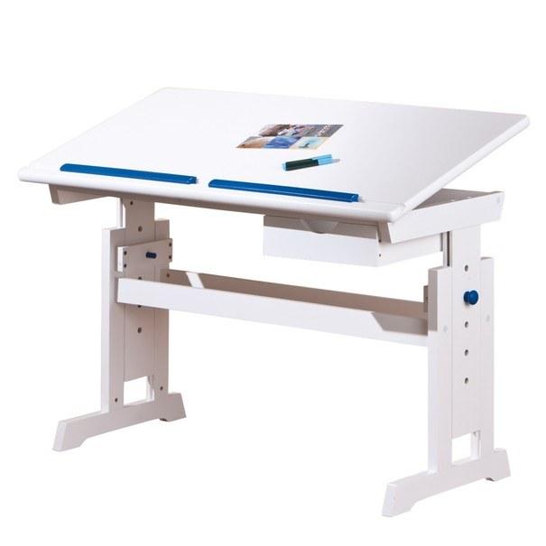 Nastavitelný psací stůl BERNIS bílá 2
