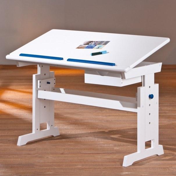 Nastavitelný psací stůl BERNIS bílá 6
