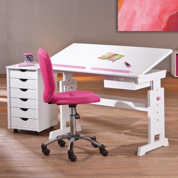 Nastavitelný psací stůl BERNIS bílá 7
