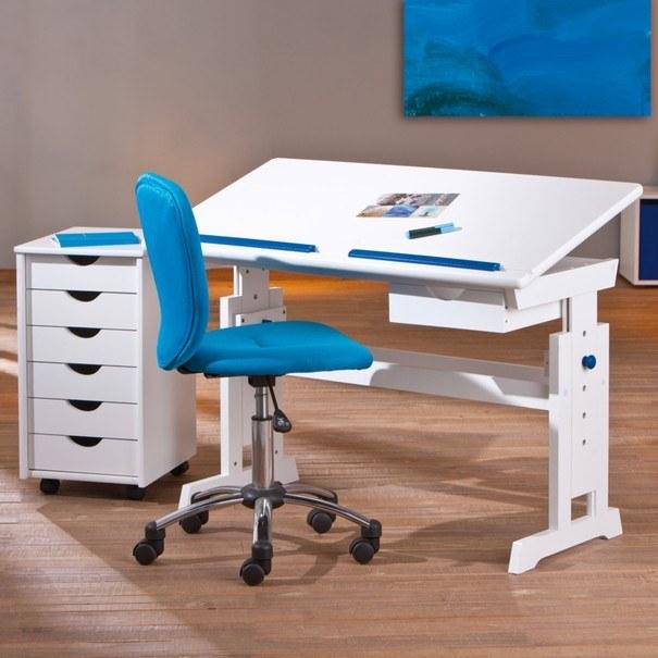 Nastavitelný psací stůl BERNIS bílá 8