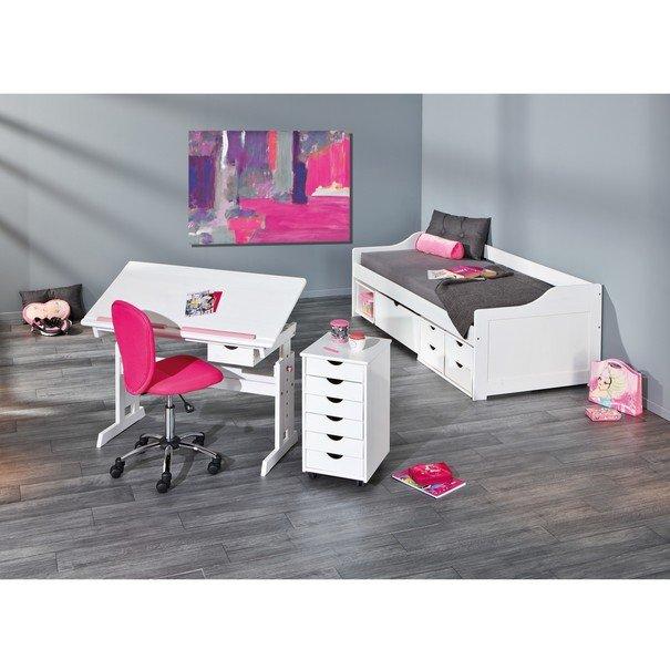 Nastavitelný psací stůl BERNIS bílá 9