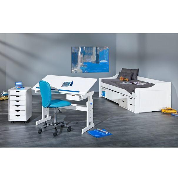 Nastavitelný psací stůl BERNIS bílá 10