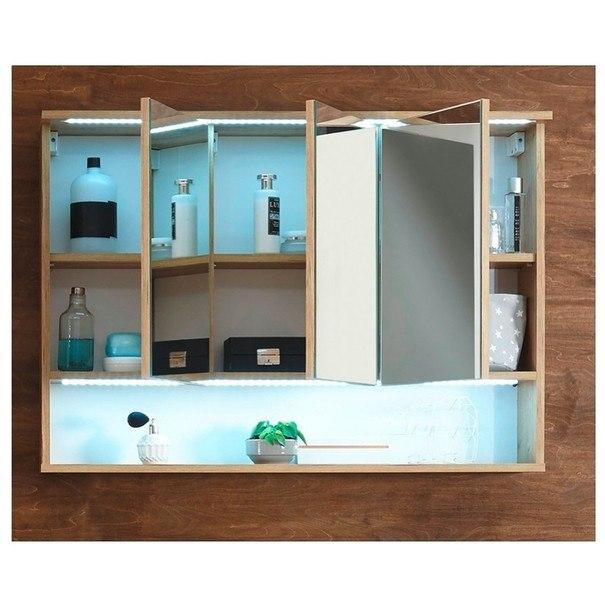 Zrkadlová skrinka BEST dub divoký so zrkadlom 3