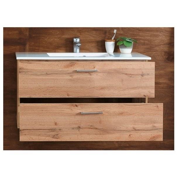 Umývadlová skrinka s umývadlom BEST dub divoký 3