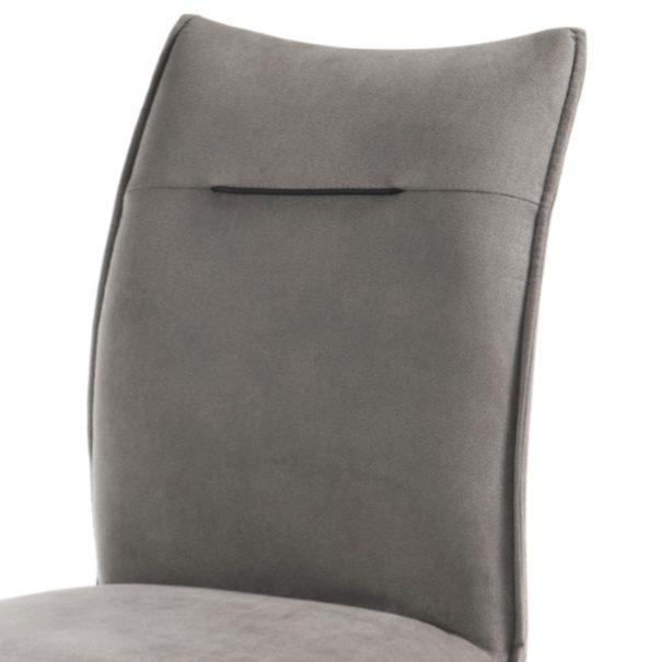 Jedálenská stolička BETTY sivá/čierna 2
