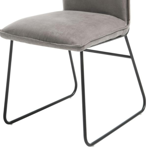 Jedálenská stolička BETTY sivá/čierna 3