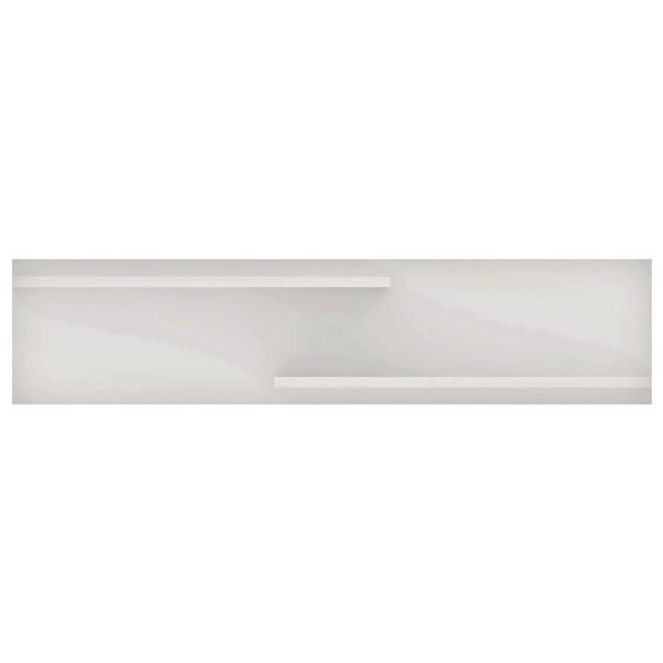 Nástěnná polička  BIANCO 6 bílá 1