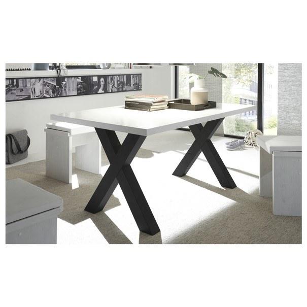 Jídelní stůl BIG SYSTEM bílá/černá 2