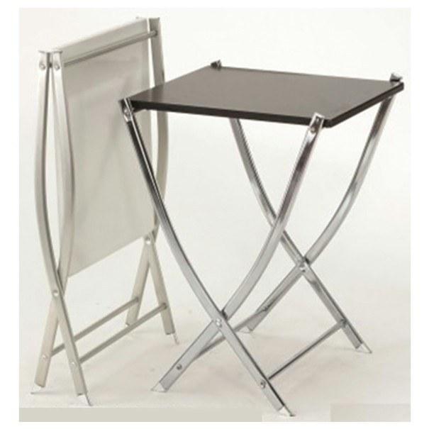 Přístavný stolek BISTRO bílá/chrom 2