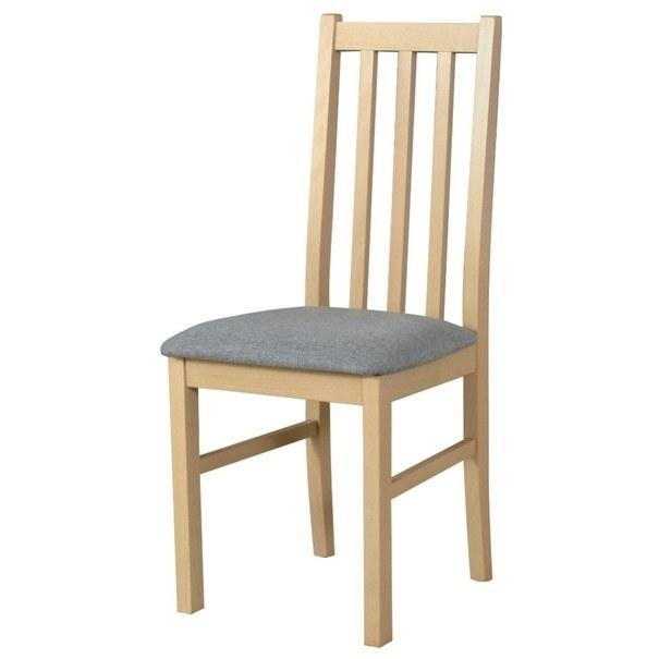 Jídelní židle BOLS 10 světle šedá/dub sonoma 1