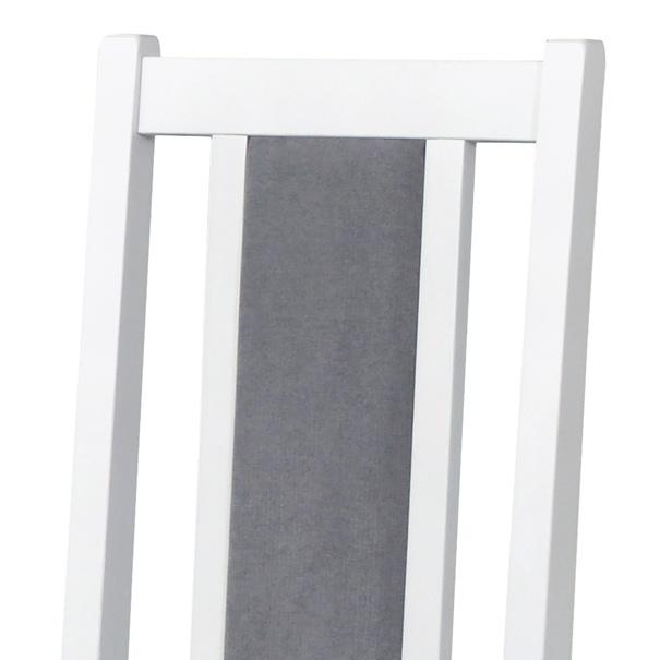 Jídelní židle BOLS 14 šedá/bílá 7
