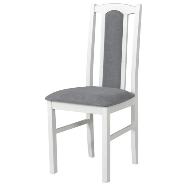 Jídelní židle BOLS 7 šedá/bílá 1