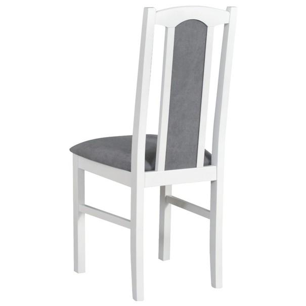 Jídelní židle BOLS 7 šedá/bílá 2