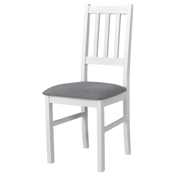 Jídelní židle BOLS bílá/šedá 1