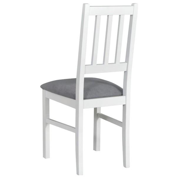 Jedálenská stolička BOLS biela/sivá 2