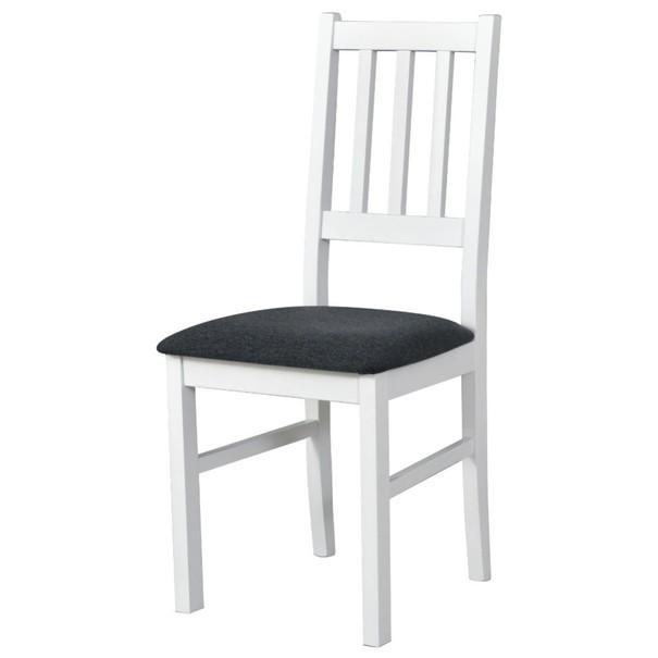 Jedálenská stolička BOLS biela/tmavosivá 1