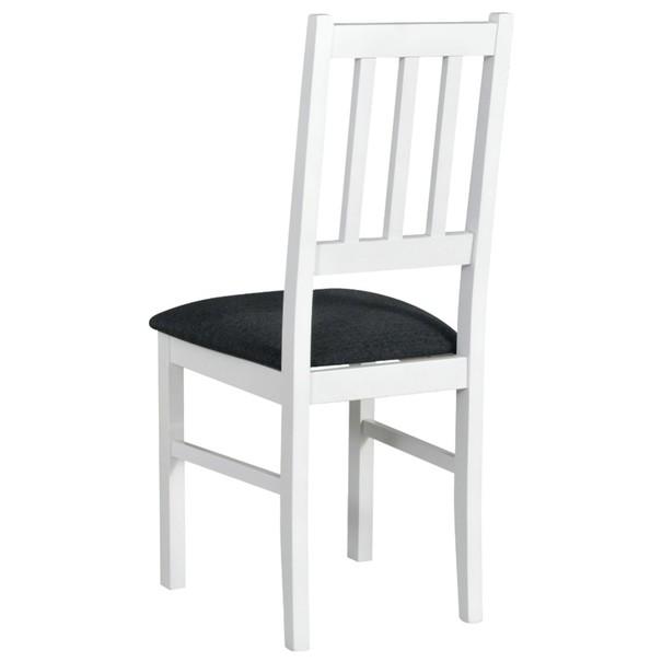 Jedálenská stolička BOLS biela/tmavosivá 2