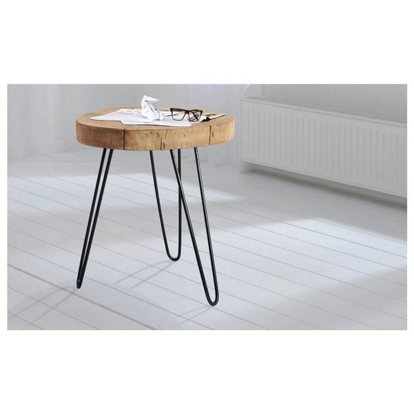 Odkládací stolek BOMBAY přírodní palisandr/černá 2
