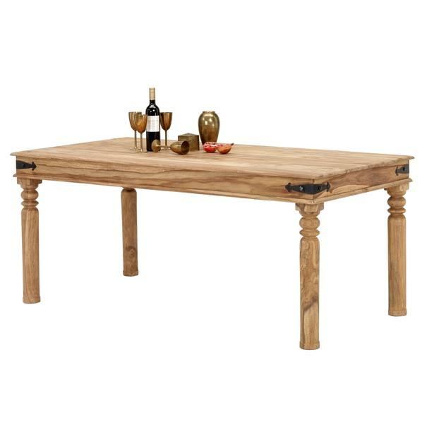 Jídelní stůl BOMBAY přírodní palisandr/černá 1