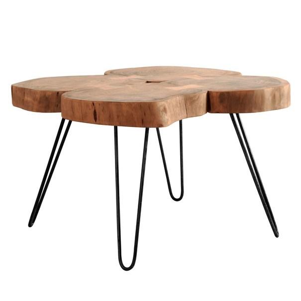 Konferenčný stolík BOMBAY prírodný palisander/čierna 1
