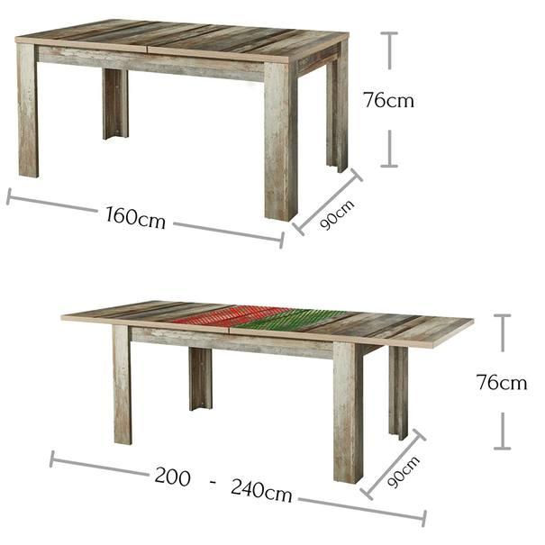 Jídelní stůl BONANZA driftwood 4