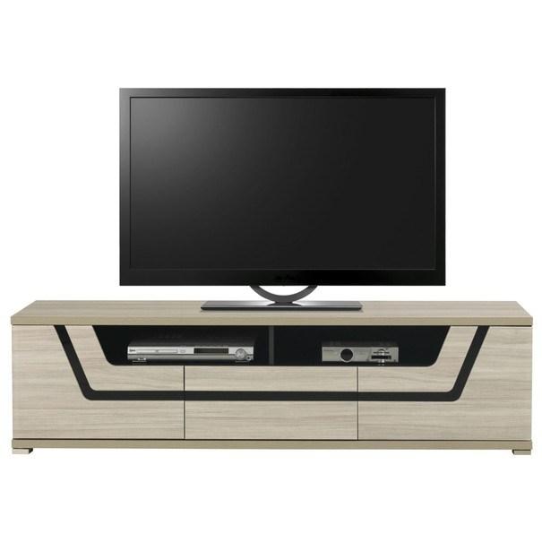 TV stolek BONN jilm matný/černá 1