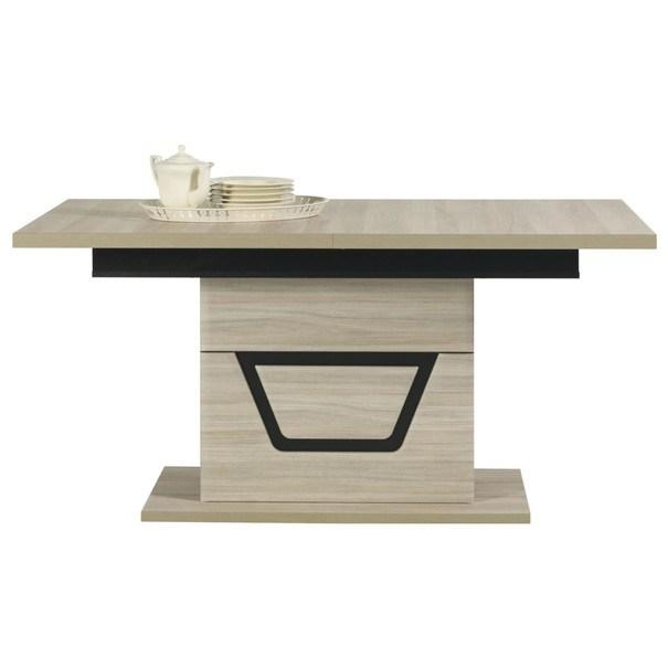 Jídelní stůl BONN jilm matný/černá 1